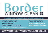 Border Window Clean Postcard